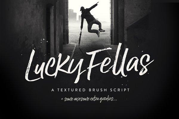 Lucky Fellas Brush Script + Extras