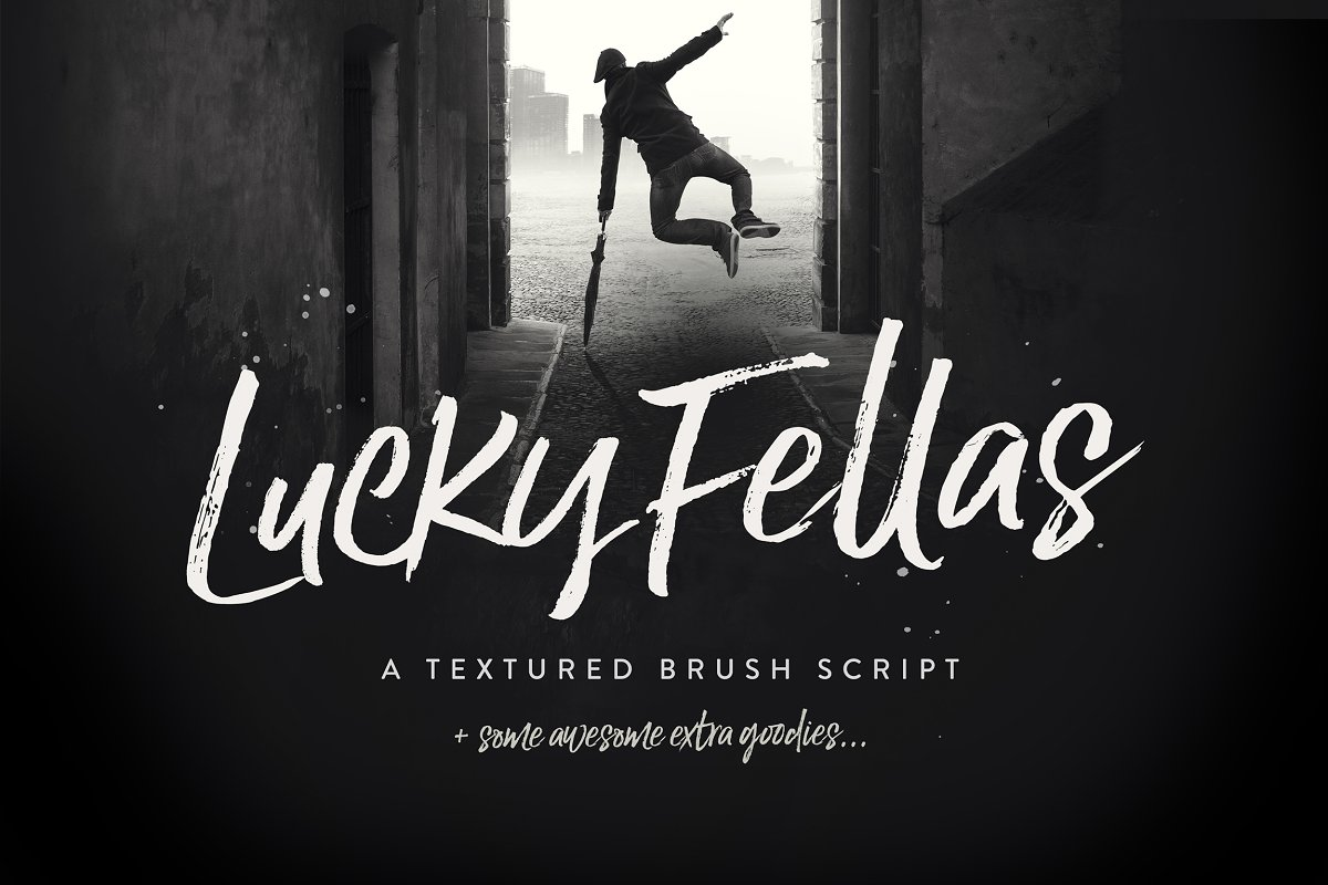 Lucky Fellas Brush Script + Extras
