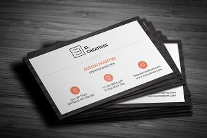 Clean Wooden Business Card