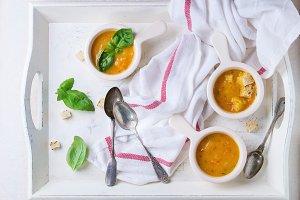 Hot carrot soup