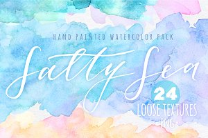 Salty Sea watercolor textures