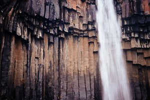 Basalt Columns and Waterfall