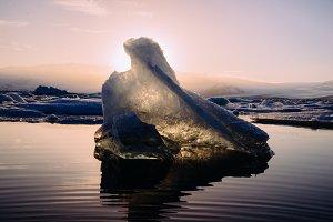 Ice floating on Glacier Lagoon