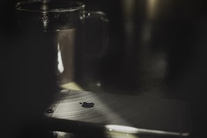 Coffee and an iPhone