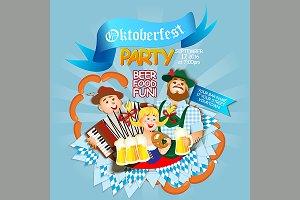 Oktoberfest party flyer