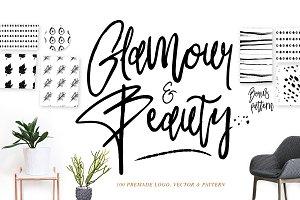 Glamour Fonts+90 logos+Pattern