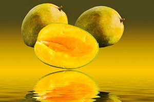 Mangoes rising out of water