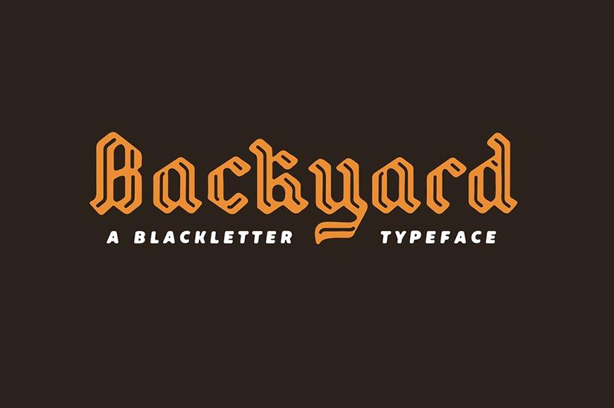 Backyard Blackletter Fonts Creative Market