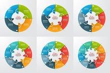 Set of circle infographic templates