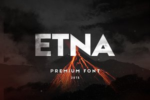 Etna Sans Serif Typeface