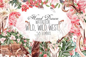 HandDrawnWatercolor WILD, WILD WEST!
