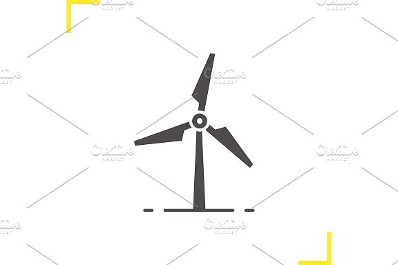 Windmill icon. Vector - Icons