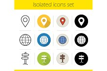 Travel. 12 icons set. Vector