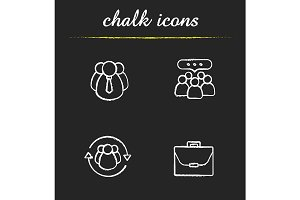 Business concepts. 4 icons. Vector
