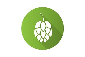 Hop cone icon. Vector