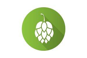 Hop cone icon. Vector
