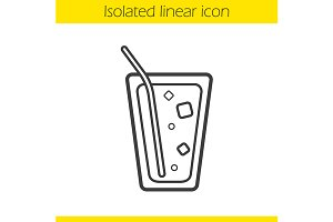 Lemonade linear icon. Vector