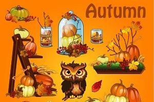 Autumn festive Halloween decor