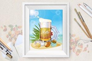 Summer beer mug
