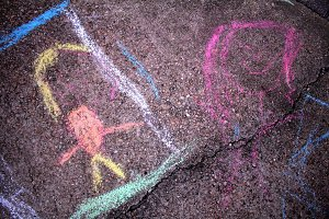 Kid's Chalk Artwork