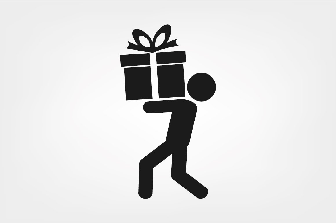 man and gift icon vector ~ Icons ~ Creative Market