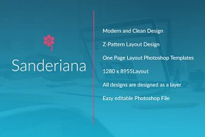 Sanderiana One-Page Portfolio - PSD