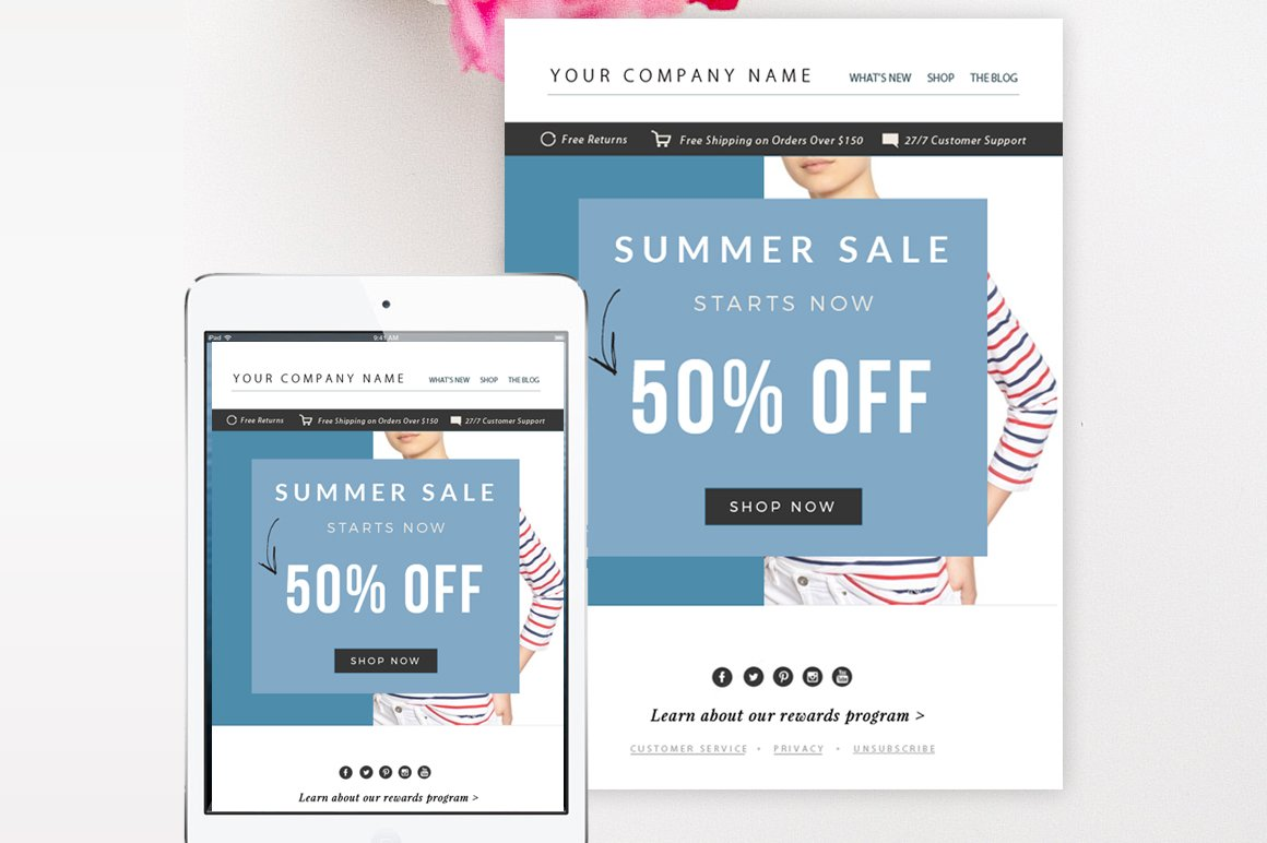 Sale Email Template PSD Email Templates Creative Market - How to design an email template