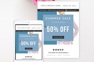 Sale Email Template PSD