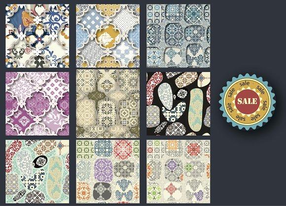 Set of 6 Patchwork patterns
