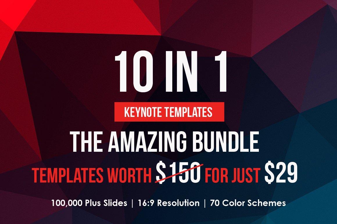 The Amazing Keynote Bundle Presentation Templates Creative Market - Awesome logo presentation template scheme