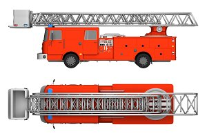 firetruck isolated on white