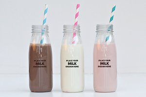 Milk Bottle Label Mock-up #1