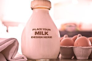 Milk Bottle Label Mock-up #5