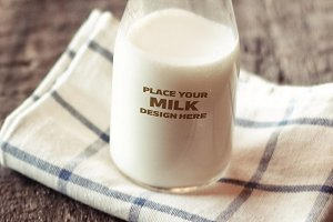 Milk Bottle Label Mock-up #6