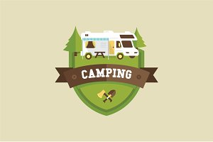 RV camping badge