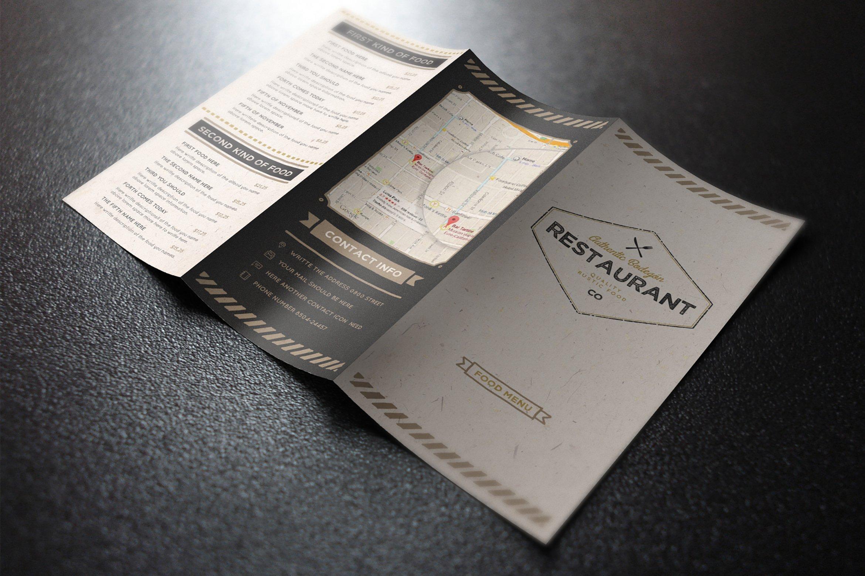 The Rustic Menu Brochure Templates Creative Market