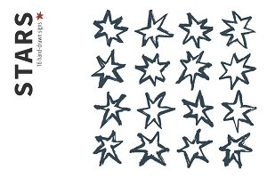 Hand-drawn Stars and Patterns