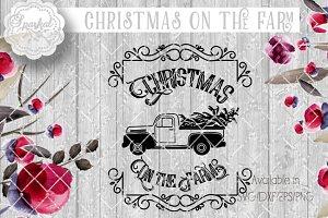Vintage Rustic Pickup Christmas