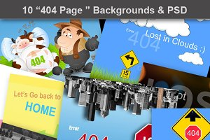 404 Page Backgrounds