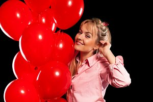 red helium balloons