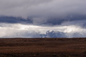 Dramatic Clouds over Mountain Range