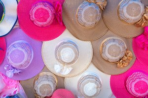 colorful of Women's summer hats