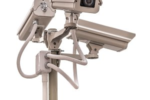 Security CCTV camera isolate