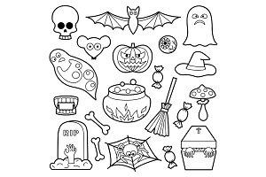 Halloween Coloring Set+Pattern