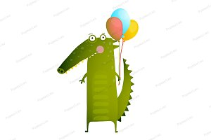 Cute Kids Crocodile Balloons