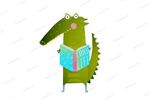 Crocodile Reading Book