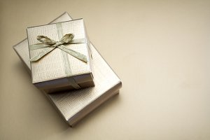 Gift, golden box