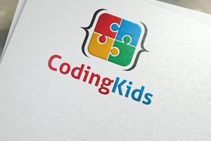 Coding kids | Logo template