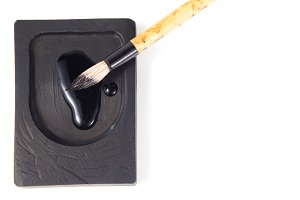 Asian traditional writing brush