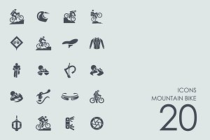 Mountain bike icons